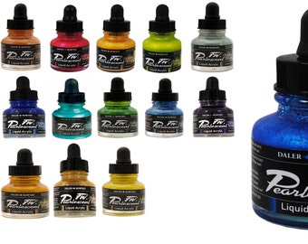 Pearlescent Colors FW Artist's Ink, Calligraphy ink, Dip pen ink, art ink, acrylic ink, mixable ink, 29.5 ml bottle, Writing, airbrush ink
