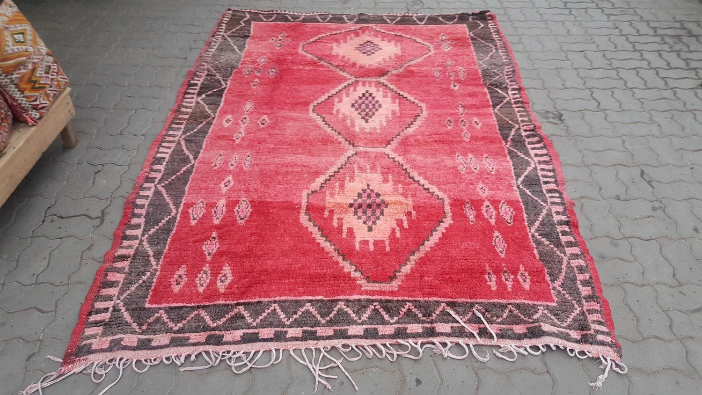old moroccan boujaad berber rug tapis berb re alfombras. Black Bedroom Furniture Sets. Home Design Ideas