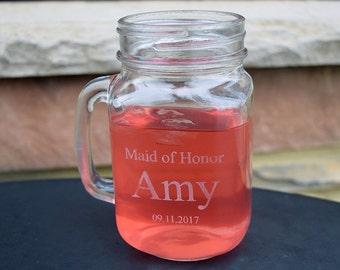 Maid of Honor/Bridesmaid Mason Jar
