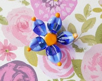 Lampwork Flower Pendant - Flower Bead - Lampwork Flower - Glass Flower - Lampwork Glass - Glass Beads - Lampwork Beads - Floral - Spring