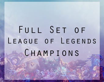 League of Legends Full set of Champions