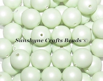Swarovski Crystal 5810 Simulated Pearls - PASTEL GREEN Round Beads - Sizes 4mm, 6mm & 8mm available