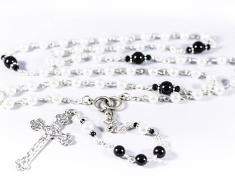 Swarovski Wedding Rosary, Groom - Customizable