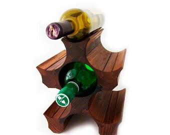 6 Bottle Wooden Wine Holder - Wooden Wine Rack - Stalak od drveta za vino - Bottiglia cremagliera supporto del vino