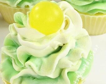 LIMONCELLO SOAP CUPCAKE Soaps Artisan Soap Cupcakes Handmade Soap Homemade Soap Favors Novelty Gift Glitter Soap Bath And Body Citrus Soap