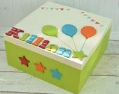 Large Wooden Keepsake Box Children's Memory Box Wooden Kids Birthday Gift Keepsakes New Baby Box Newborn Gift