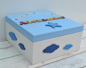 Large Wooden Memory Keepsake Box Baby Memory Box  Childrens firsts New Baby keepsake box Boys Girls Christening adoption gift