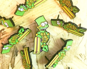Bart Simpson x TMNT Enamel Pin Badge
