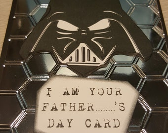 Handmade Father's Day Card - Darth Vader