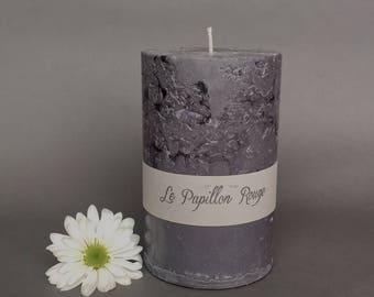 """Concrete Pillar Candle 4"""" x 6.5"""""""