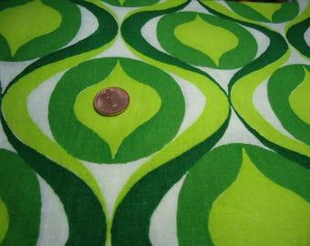 Vintage fabric fabric tissu 70s 70s 50 x 55 cm fat quarter