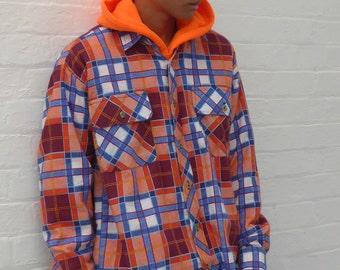 Acid Bright Check Flannel Shirt