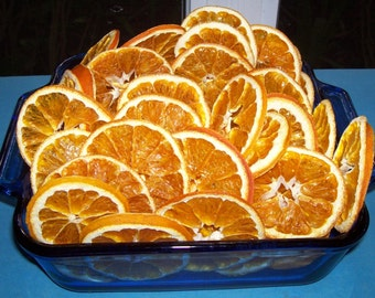 Dried/Dehydrated ORGANIC VALENCIA ORANGE slices ***12 Slices***