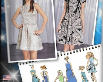 Misses Project Runway Dresses Size 12 Thru 20 New Simplicity Pattern 1157