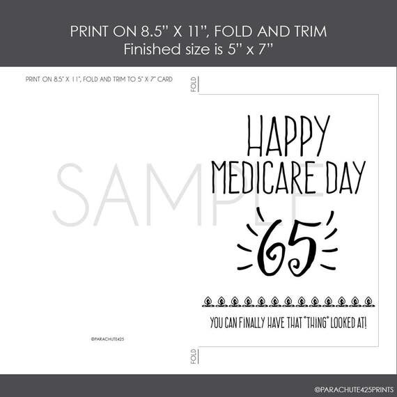 65th Birthday printable card birthday printable Medicare – Cards Birthday Printable