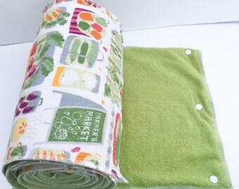 Unpaper Towels / Snapkins / Reusable Paper Towels / Paperless Towels / Kitchen Towels / Burp Cloths, set of 12 farmers market print