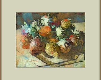 Strawberries on the Kitchen Table: Instant Download Wall Art Print for Your Kitchen, Dining Room or Dinette