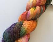 "TAOS - hand dyed fingering yarn  (4 oz./434 yds) colorway ""Aurora Borealis"""