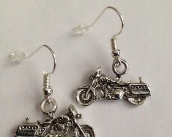 Motorcycle Earrings, Harley Earrings, Bikers Earrings, Bike Racing Earrings, Ships From USA
