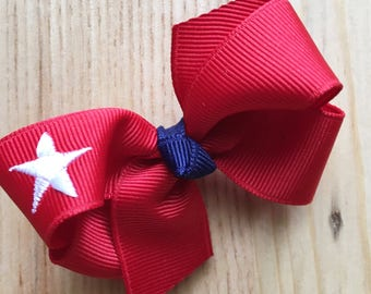 Petite Star Bow / Fourth of July / Summer Bows