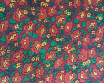 Vintage Flower Garden Medium Weight Cotton Blend Novelty Fabric by the Yard