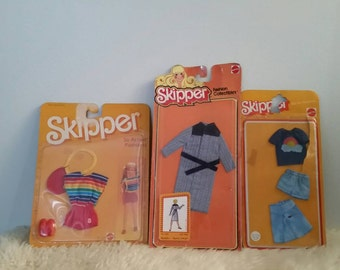 Vintage Skipper Clothes NIB, Skipper Barbie, Skipper. 1975-1984. Vintage Doll Clothes.