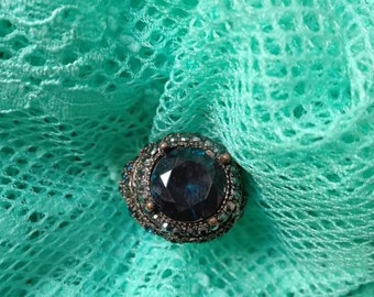 Victorian style blue ring