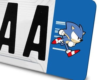 Sonic sticker for license plates