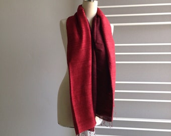 Two tone Red scarves, 27