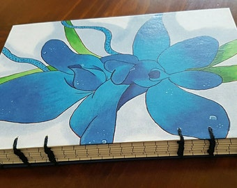 A5 Blue Orchid Notebook