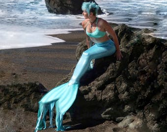 Swimmable adult mermaid tails made in custom colors