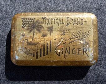 Tropical Brand Crystallized Ginger Tin