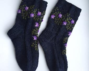 knit sleeping socks etsy. Black Bedroom Furniture Sets. Home Design Ideas