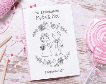 """Hochzeitsmalbuch PDF """"Romance"""" Gastgeschenk Hochzeit"""