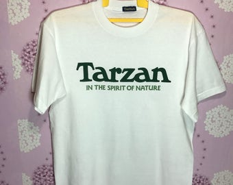 90s Vintage TARZAN In The Spirit Of Nature T-shirt Adult Large Size Chest 21""