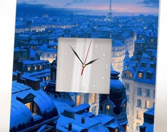 Paris bedroom decor Paris decoration Paris skyline art Paris clock Paris city skyline Gift from paris Paris cityscape Paris theme decor