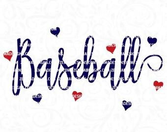 baseball heart svg, svg files, baseball svg, baseball love svg, sports svg, sports svg files, commercial use svg, baseball season svg