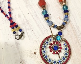 Multi Beaded Bling Necklace