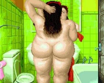 1 CROSS stitch, PATRON BOTERO bath woman. Famous cross stitch pictures