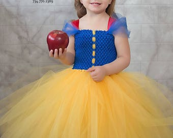 Snow White Tutu dress, Snow White costume dress, Princess tutu dress