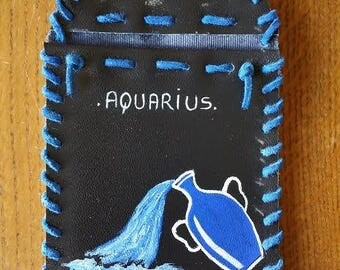 Hand-Crafted Phone Pouches with Hand-Painted Astrological Signs