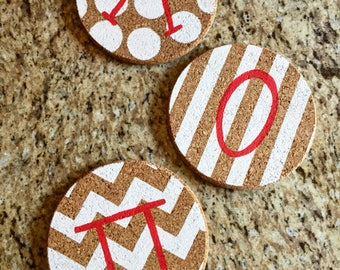 Sorority Cork Board Circles set of 3