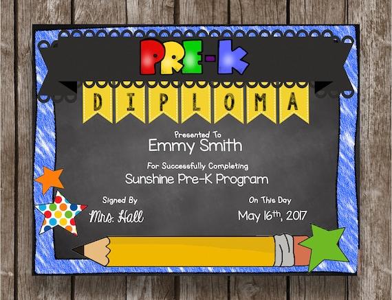 50% OF SALE Pre-K Diploma PreK Graduation Chalkboard