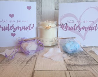Will you be my Bridesmaid Scented Candle Gift Set