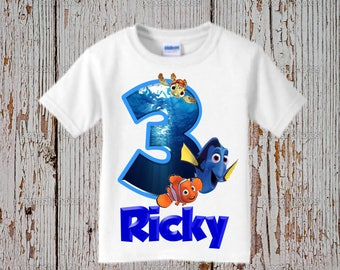 Finding Dory Birthday Shirt - Boy's Finding Dory Birthday Shirt - Finding Nemo Shirt
