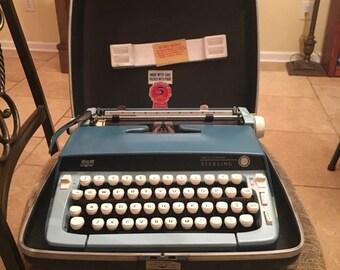 Robin's Egg BLUE Smith Corona STERLING 1960'S Typewriter