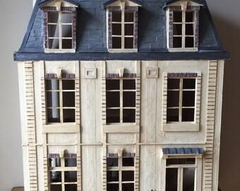 French Chateau, Dollhouse Chateau, Dollhouse, French Dollhouse, French Country Dollhouse, French Country Miniatures, 1:12 Dollhouse