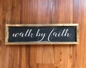 walk by faith || framed