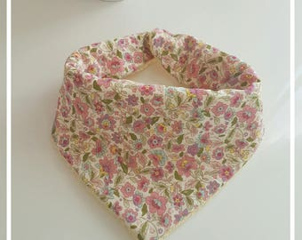 Pink bandana bib liberty fabric