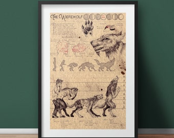 Large - Werewolf - European Folklore Art Print